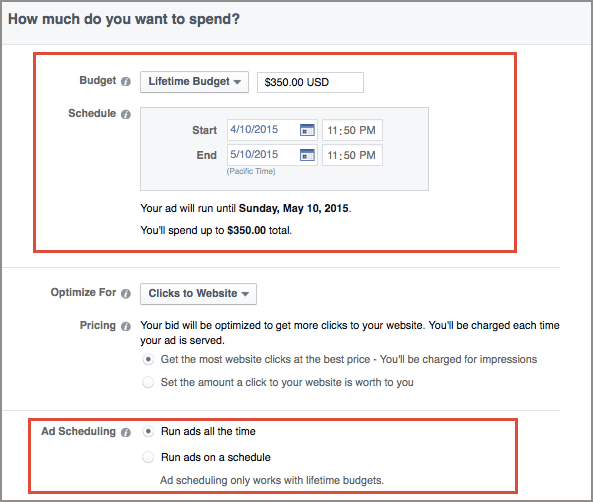 сколько стоит работа с Инстаграм через фейсбук для рекламы