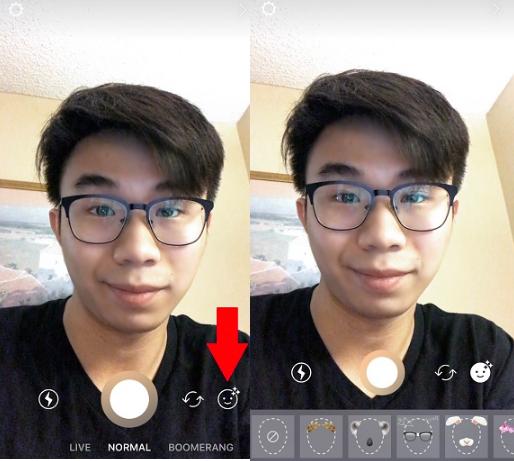 как включить маски в Инстаграм приложении
