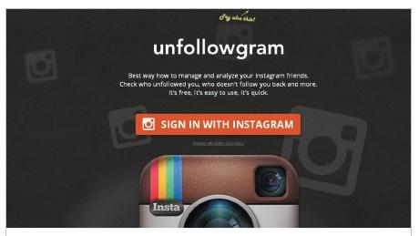 слежка за инстаграмом людей на сайте через unfollowgram