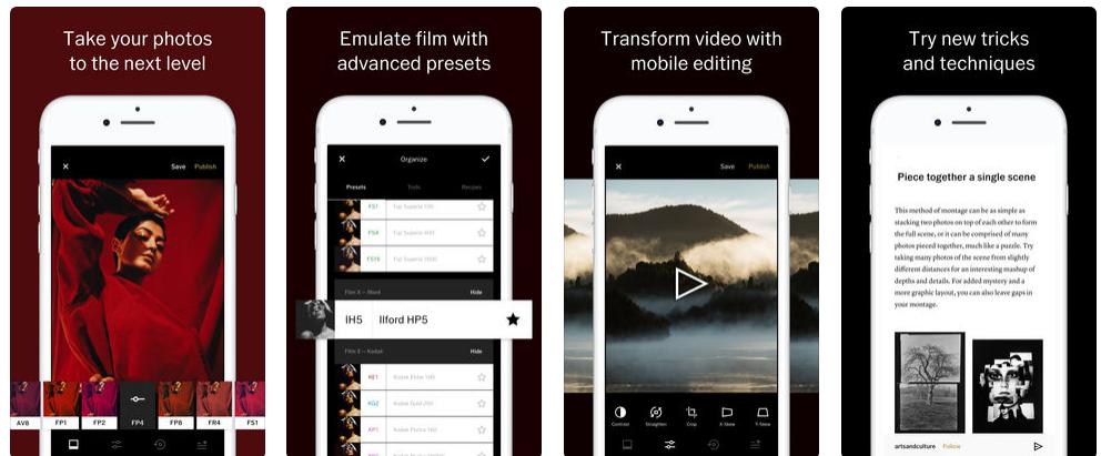 приложение VSCO Camera для айфона