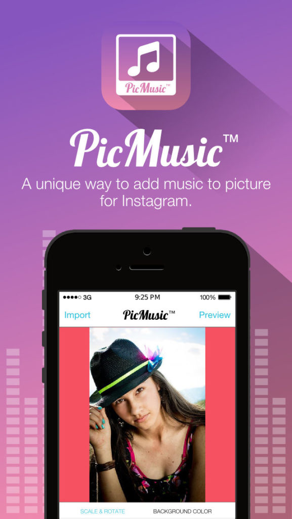 программа picmusic для добавления песни в инстаграм фотограию