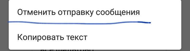 отмена уже отправленного сообщения в директе