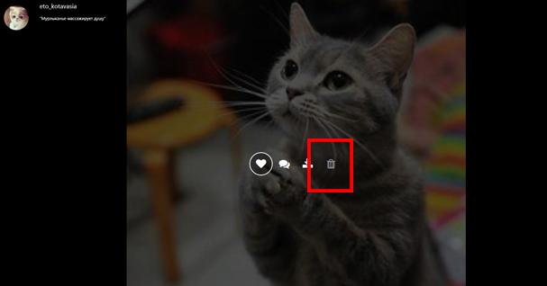 инструкция, как удалить фото в инстаграм